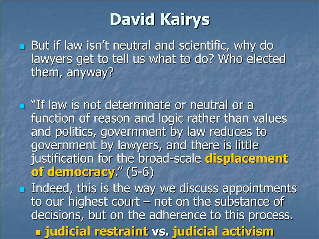 David Kairys