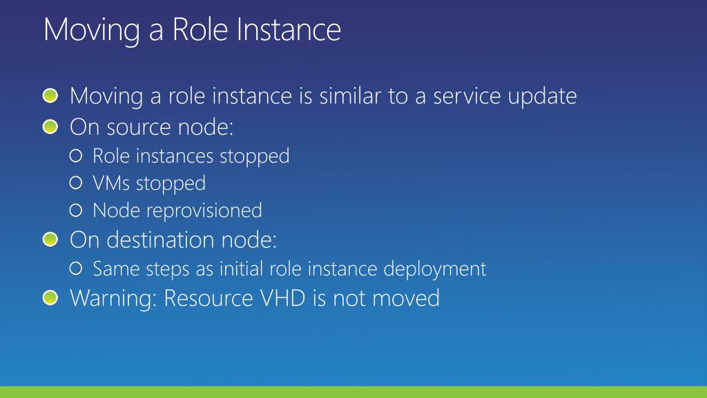 Moving a Role Instance