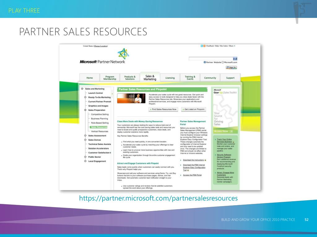Partner Sales Resources