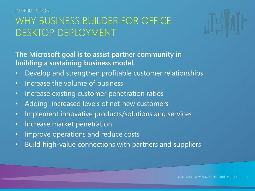 Why Business Builder for Office Desktop Deployment