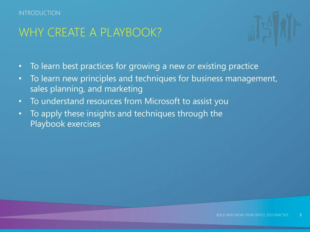Why Create a Playbook?