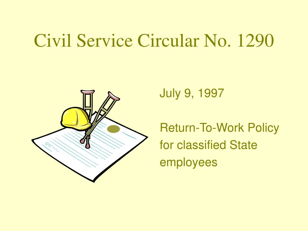 Civil Service Circular No. 1290