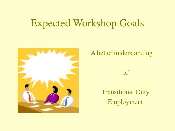 Expected workshop goals3