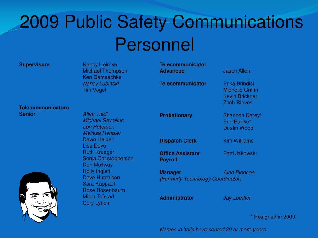2009 Public Safety Communications