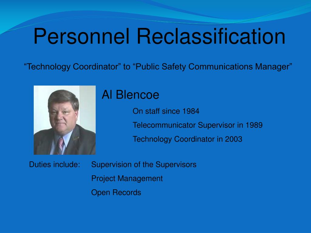 Personnel Reclassification