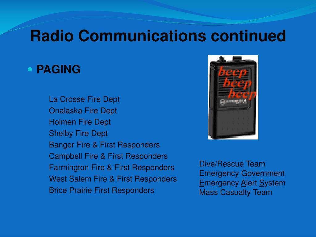 Radio Communications continued