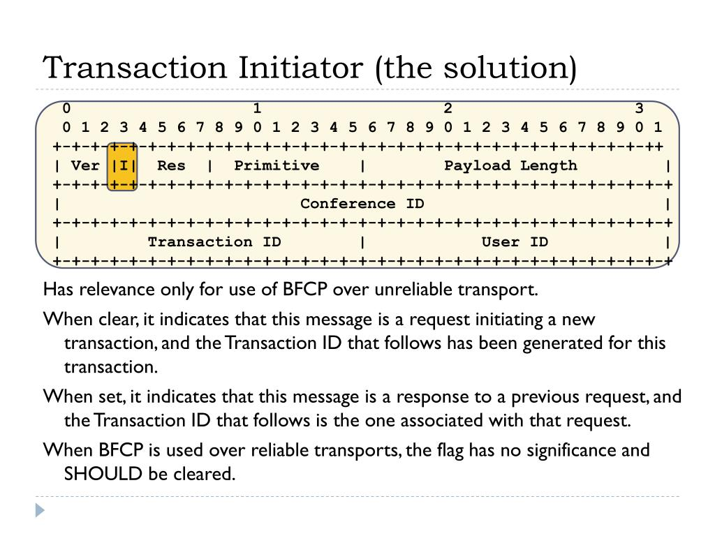 Transaction Initiator (the solution)