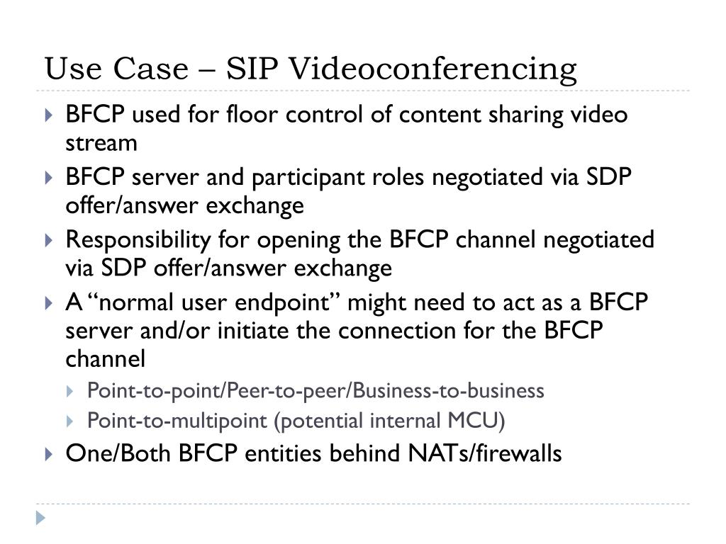Use Case – SIP Videoconferencing