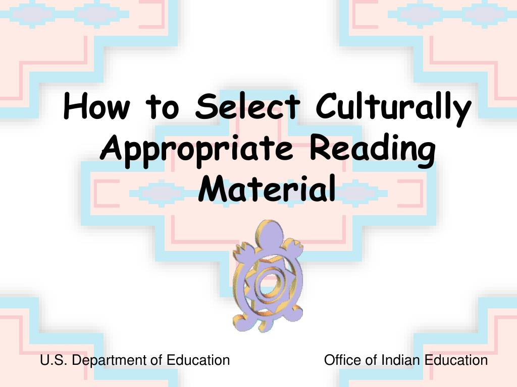 How to Select Culturally Appropriate Reading Material