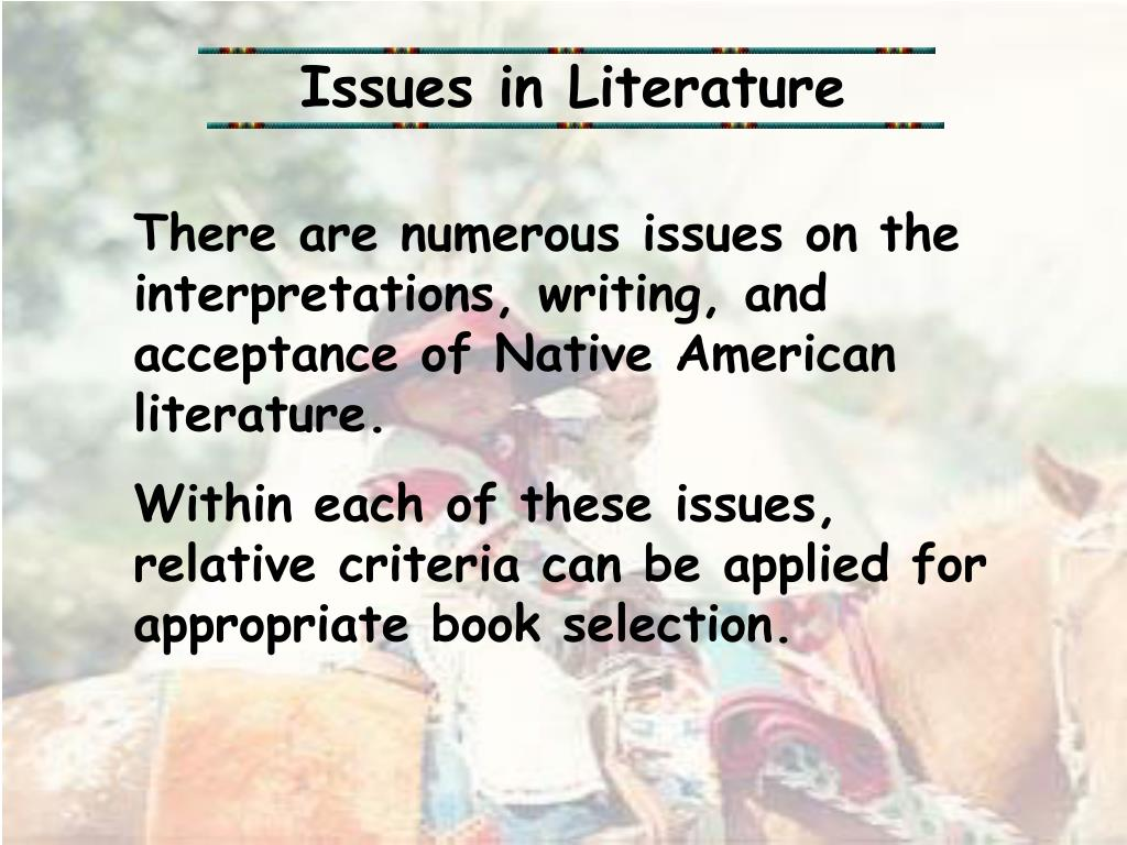 Issues in Literature
