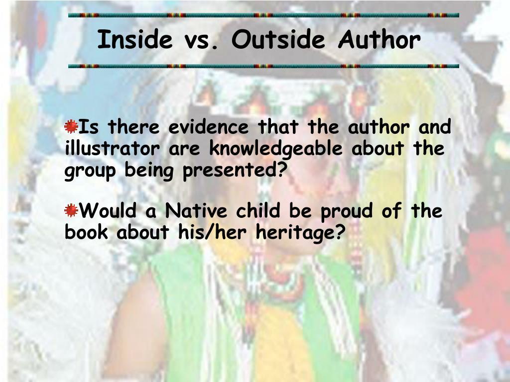 Inside vs. Outside Author