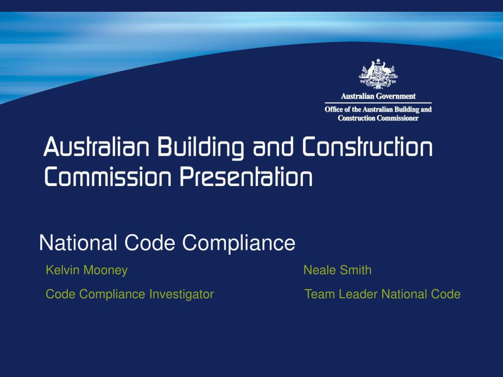 National Code Compliance