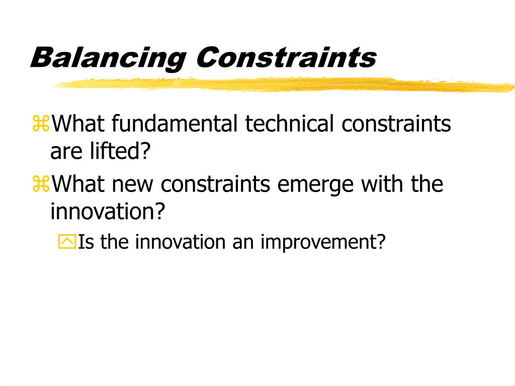 Balancing Constraints