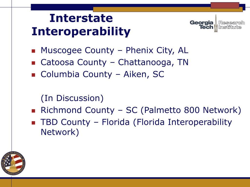 Interstate Interoperability
