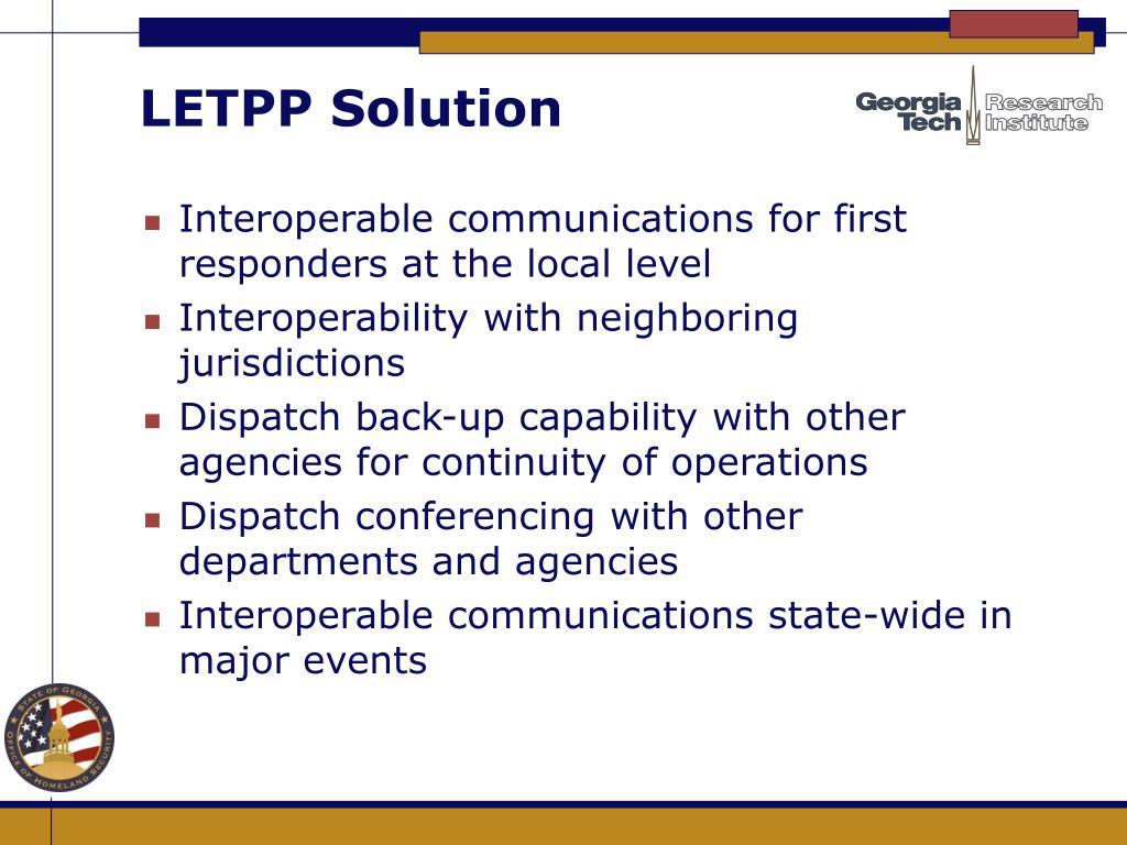 LETPP Solution