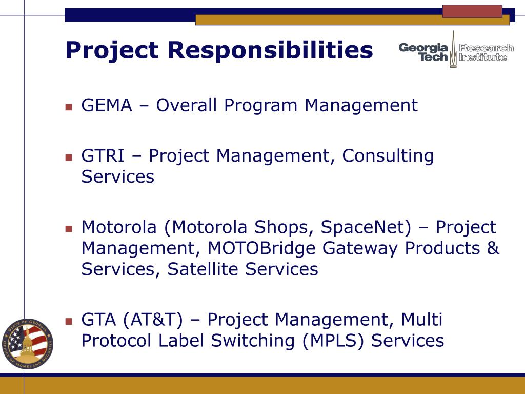 Project Responsibilities
