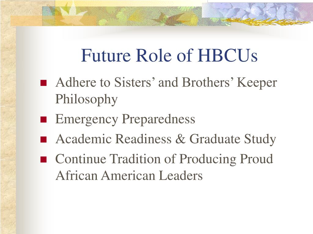 Future Role of HBCUs