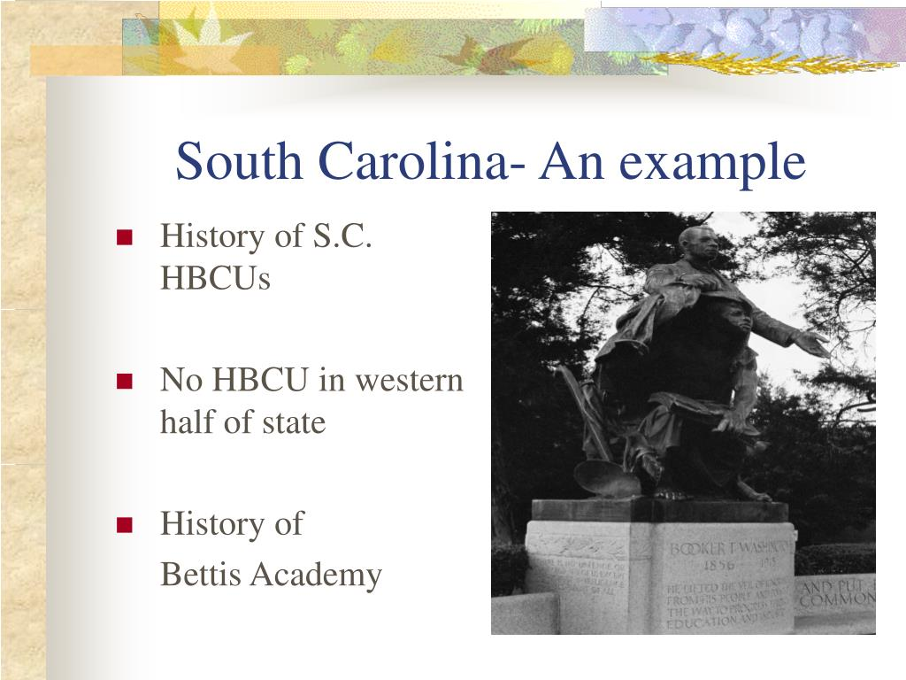 South Carolina- An example