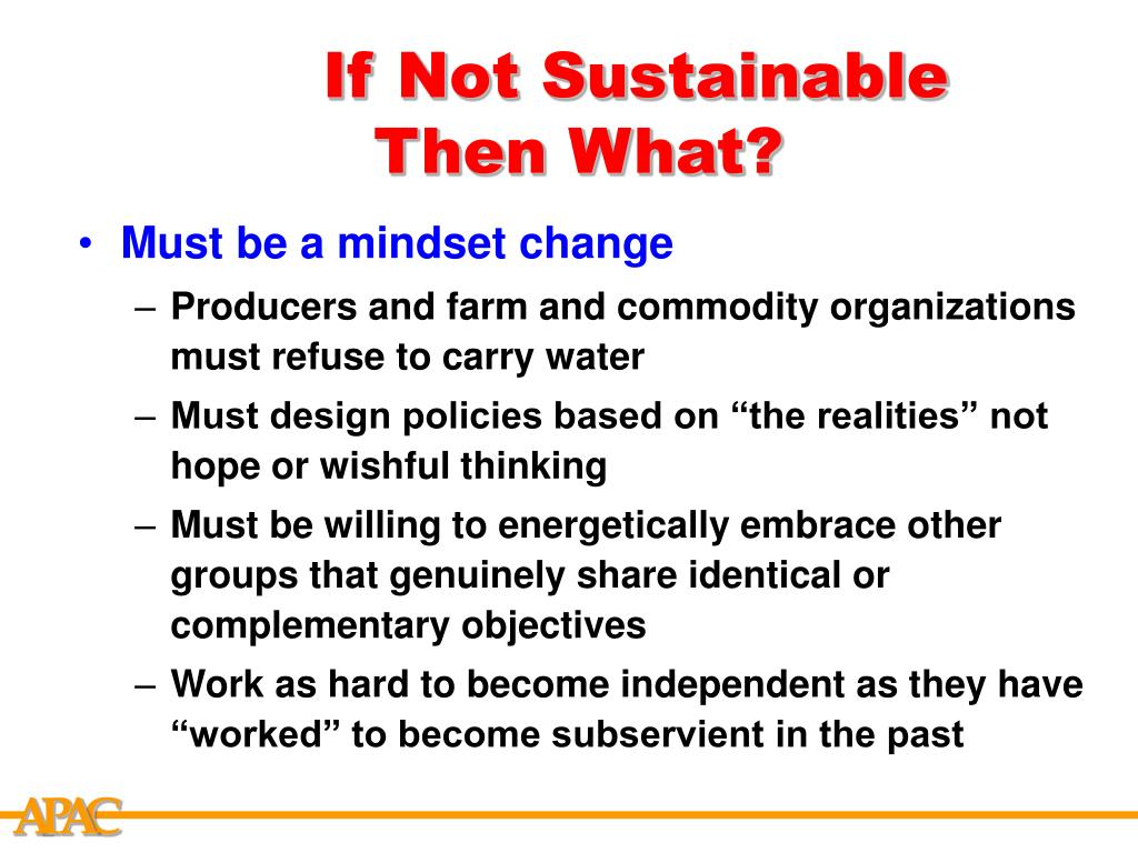 If Not Sustainable