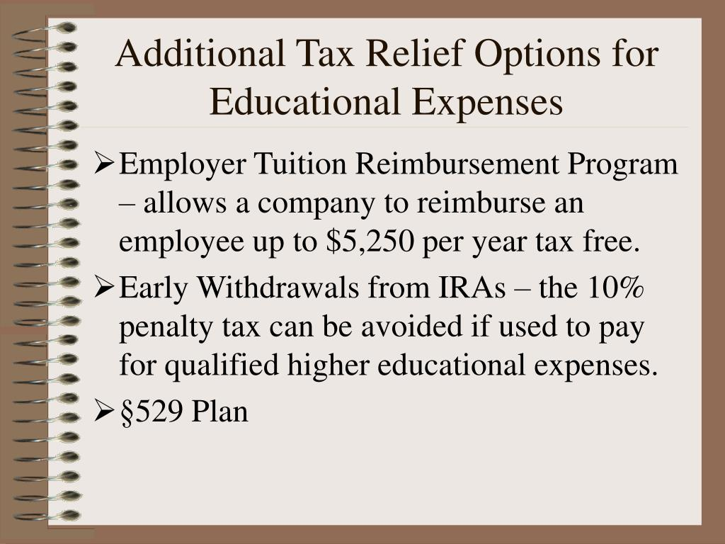 Additional Tax Relief Options for Educational Expenses