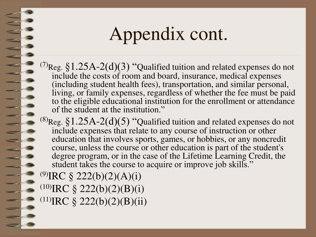 Appendix cont.