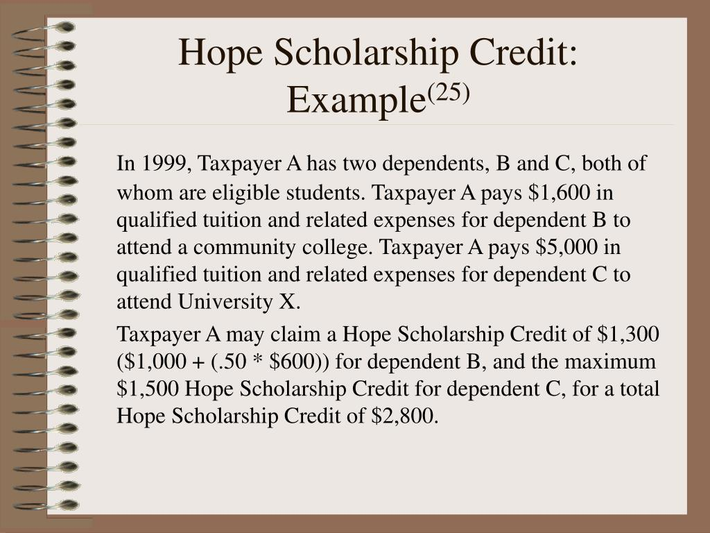 Hope Scholarship Credit: