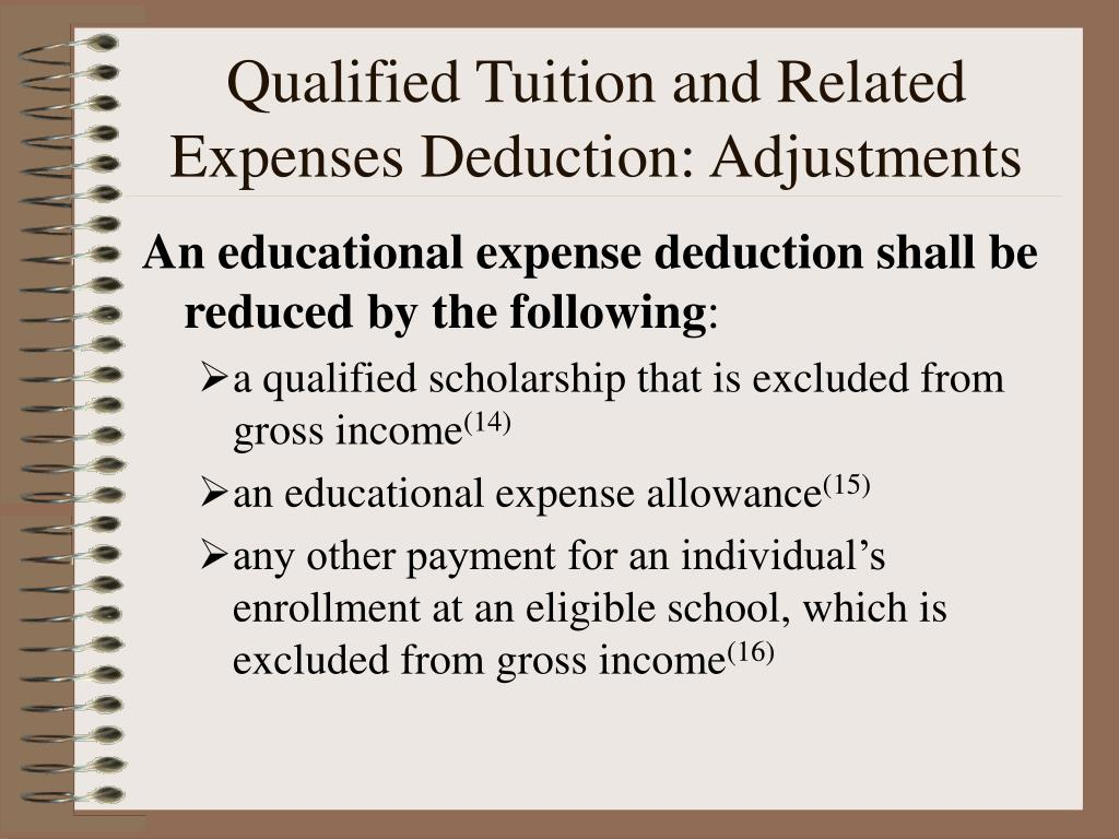 Qualified Tuition and Related Expenses Deduction: Adjustments