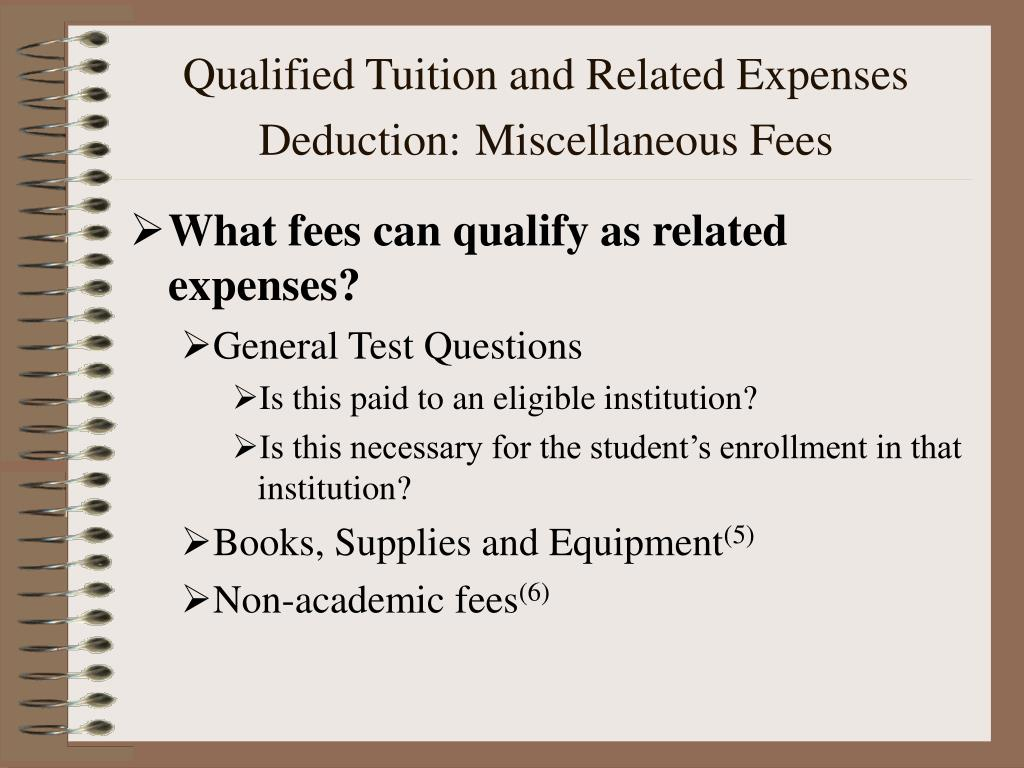 Qualified Tuition and Related Expenses Deduction: