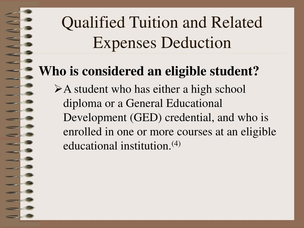 Qualified Tuition and Related Expenses Deduction