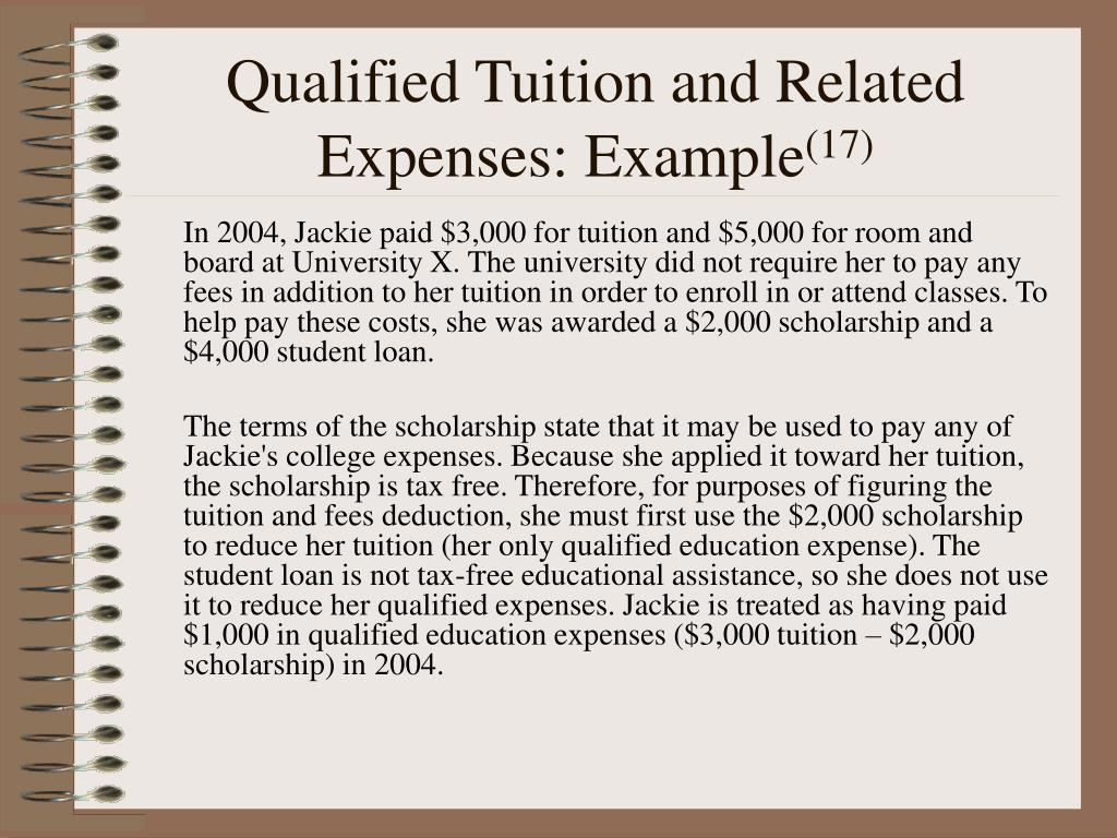 Qualified Tuition and Related Expenses: Example