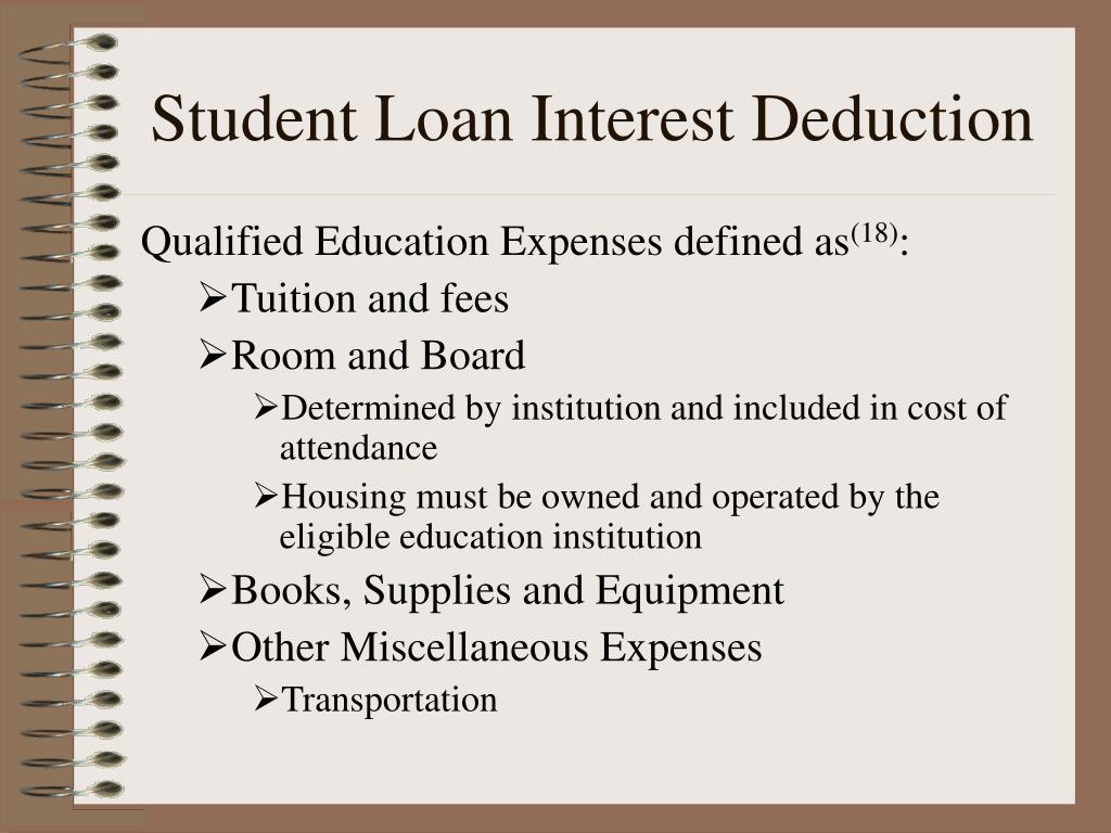 Student Loan Interest Deduction
