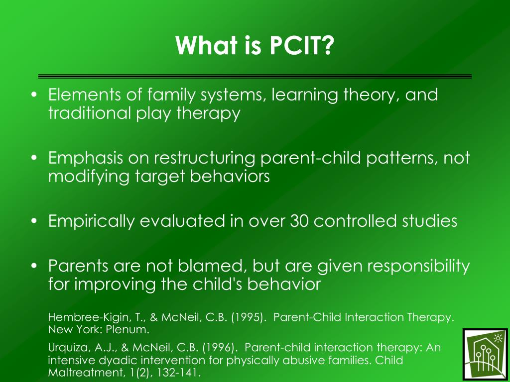 parent child intensive therapy The child-parent relationship has a major influence on most aspects of child development when optimal, parenting skills and behaviours have a positive impact on.