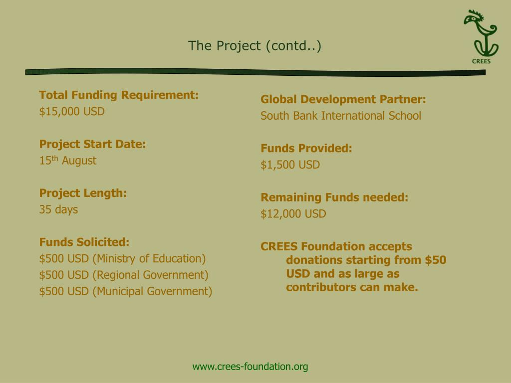 The Project (contd..)