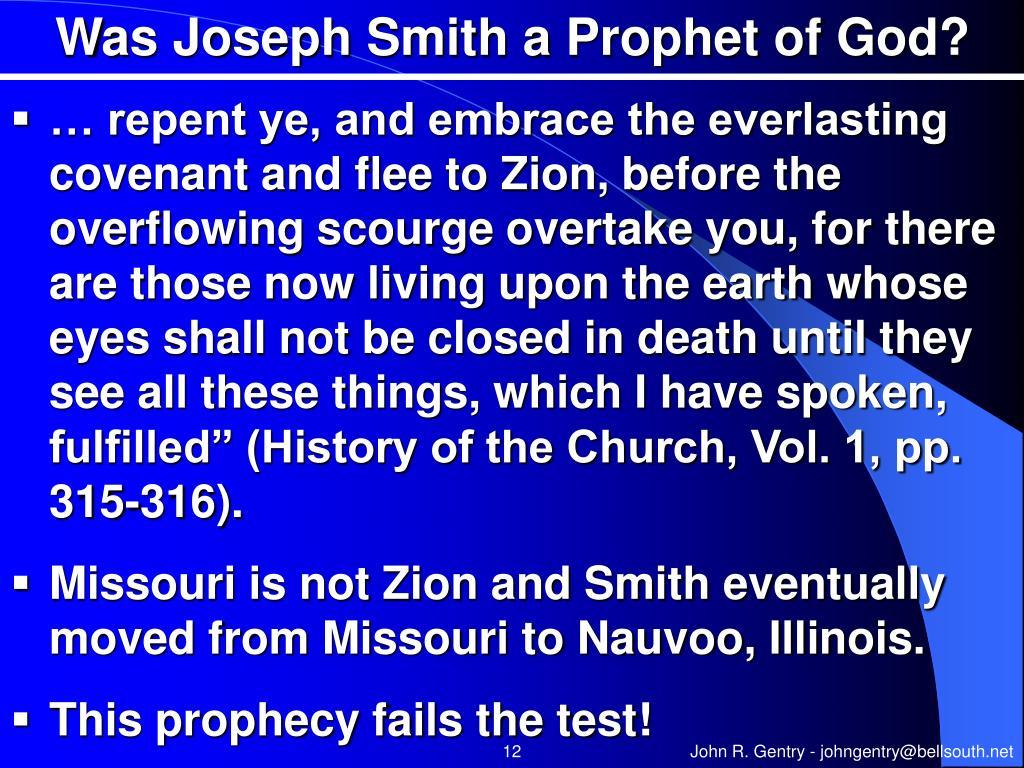 Was Joseph Smith a Prophet of God?