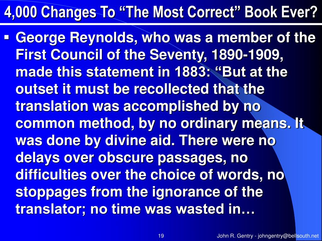 """4,000 Changes To """"The Most Correct"""" Book Ever?"""