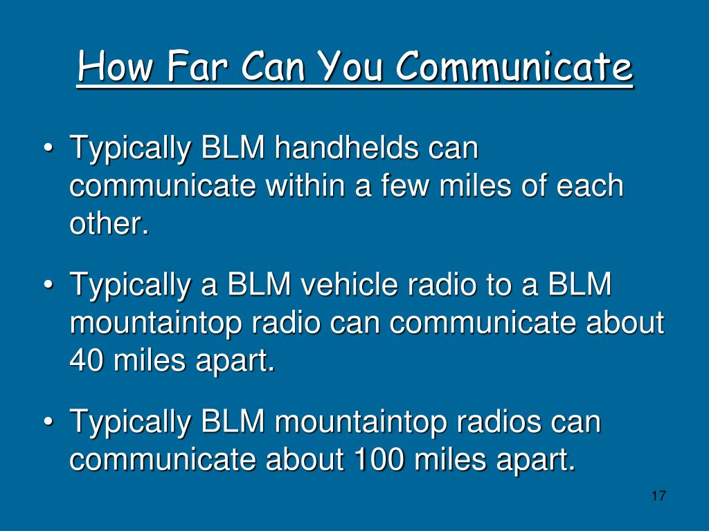 How Far Can You Communicate