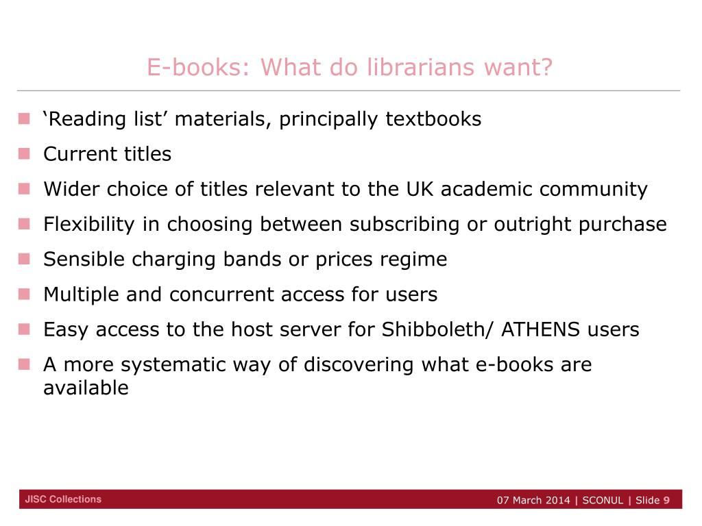 E-books: What do librarians want?