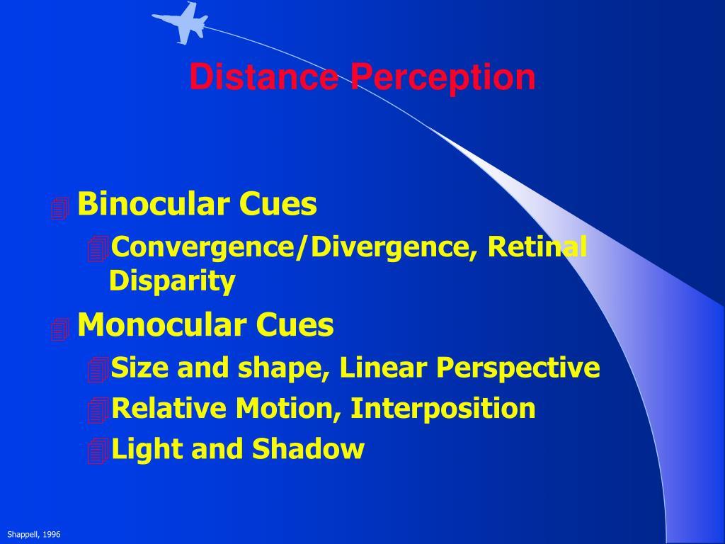 Distance Perception