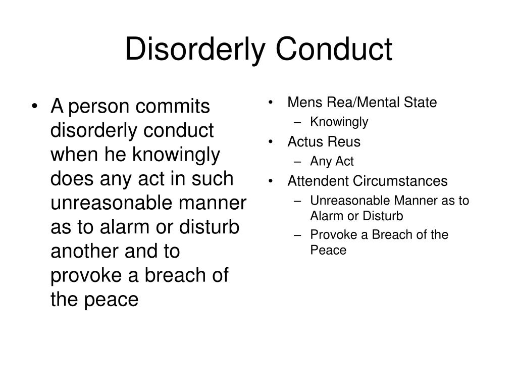 A person commits disorderly conduct when he knowingly does any act in such unreasonable manner as to alarm or disturb another and to provoke a breach of the peace