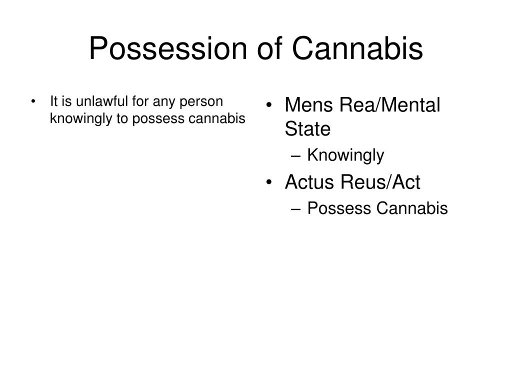 It is unlawful for any person knowingly to possess cannabis