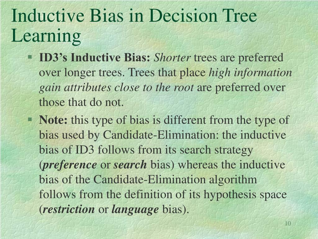 Inductive Bias in Decision Tree Learning