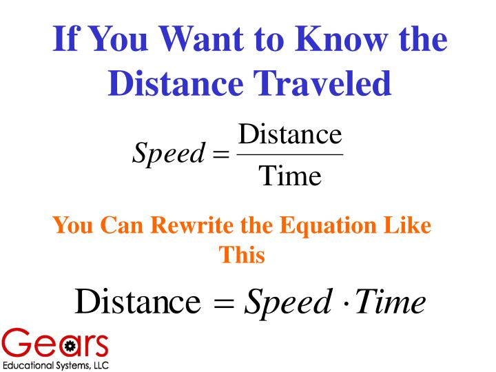 If You Want to Know the Distance Traveled
