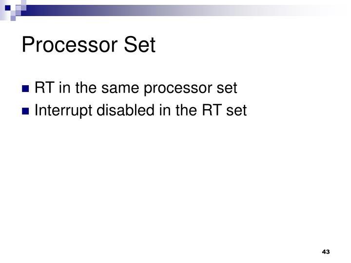 Processor Set