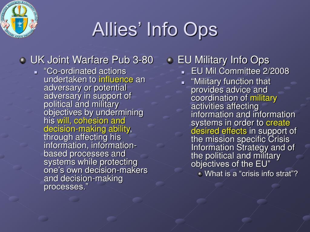 UK Joint Warfare Pub 3-80