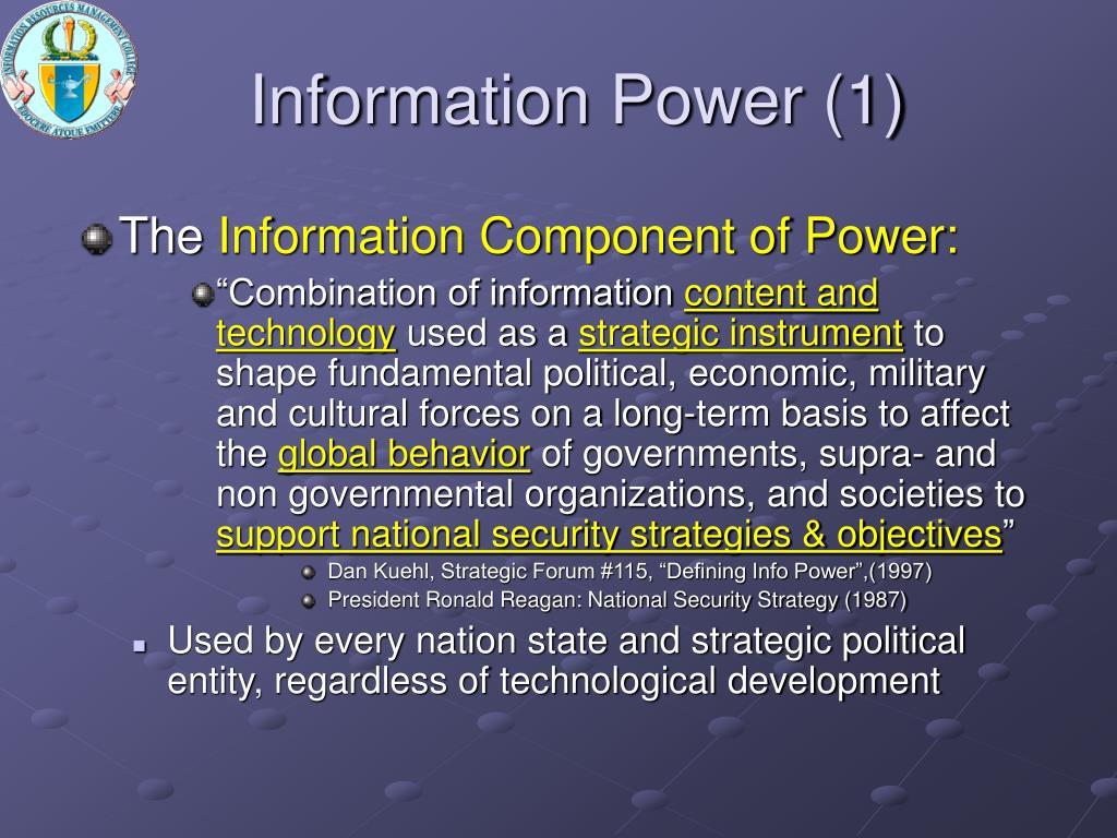 Information Power (1)