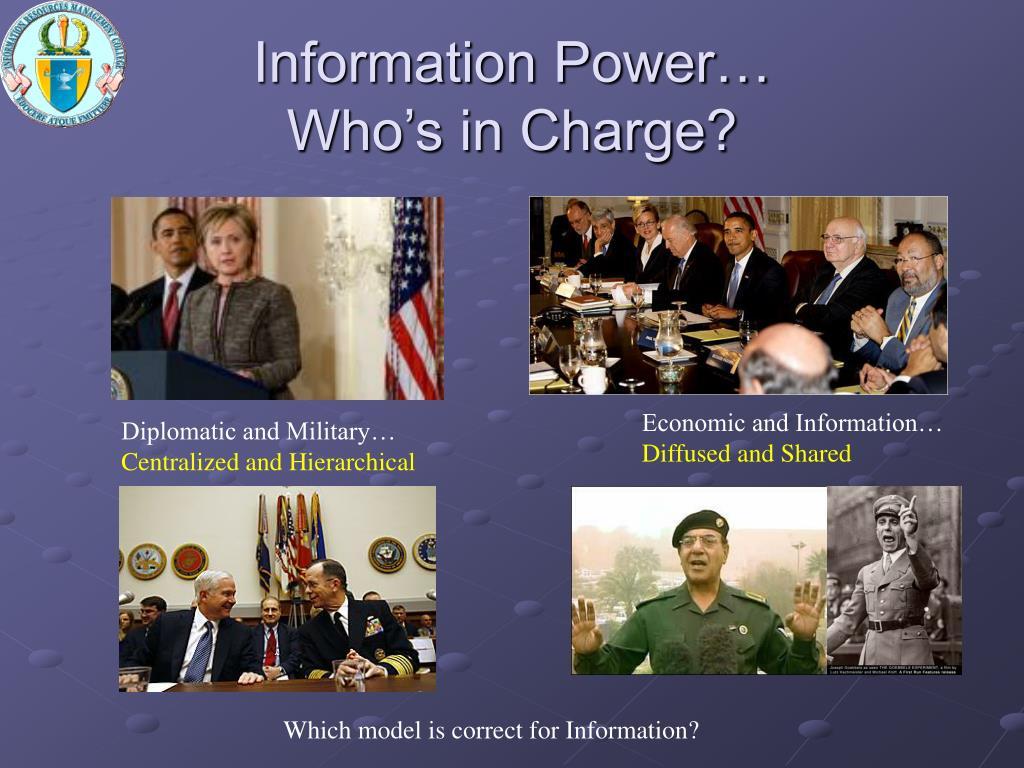 Information Power…