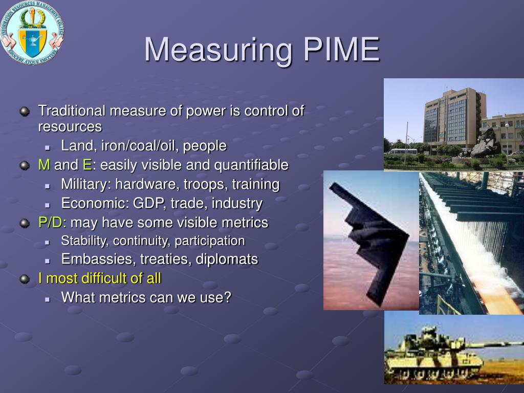 Measuring PIME