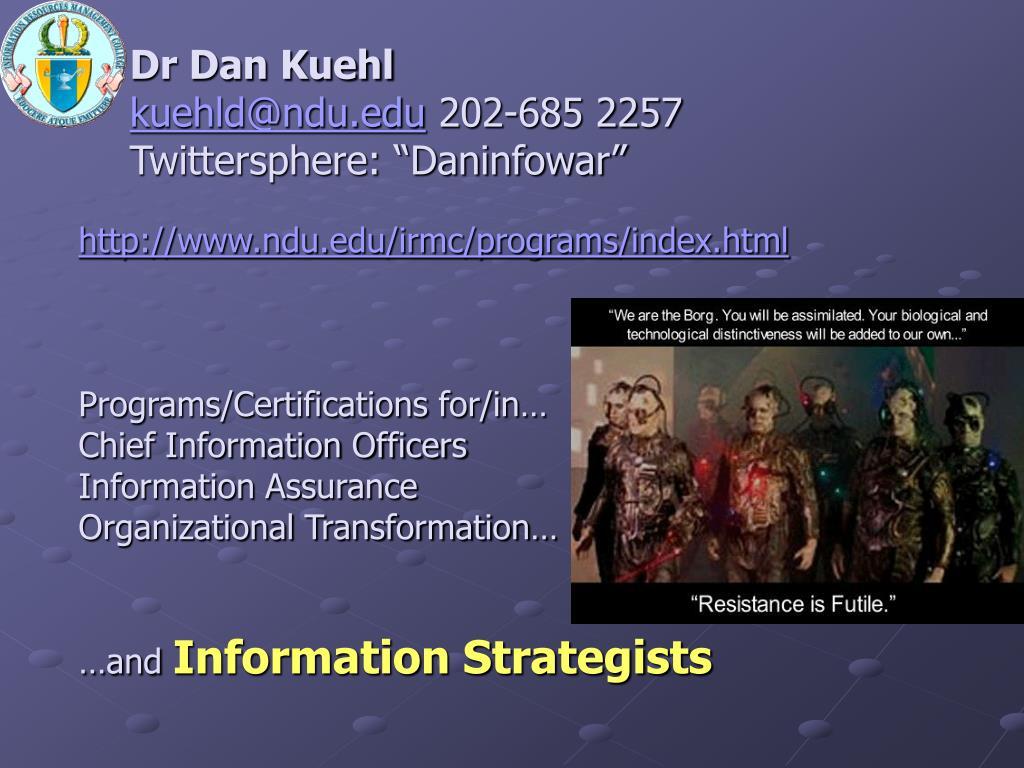 Dr Dan Kuehl