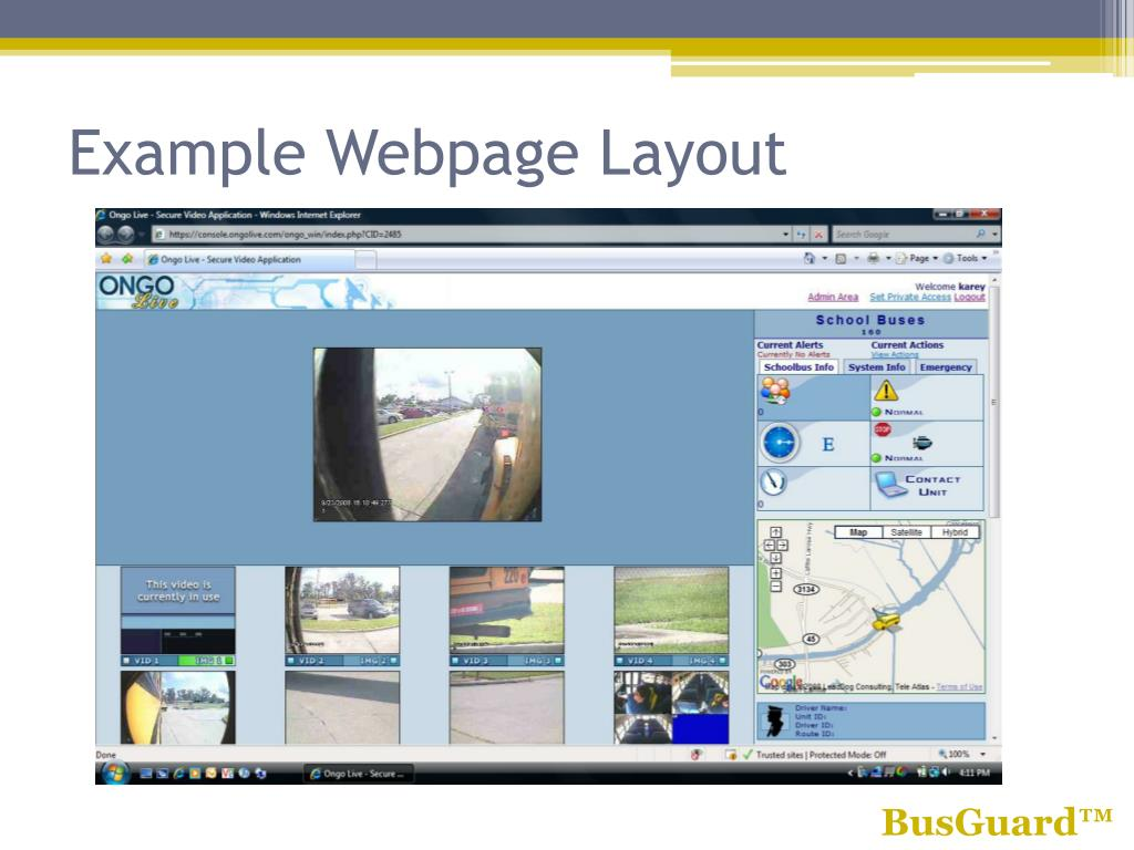 Example Webpage Layout