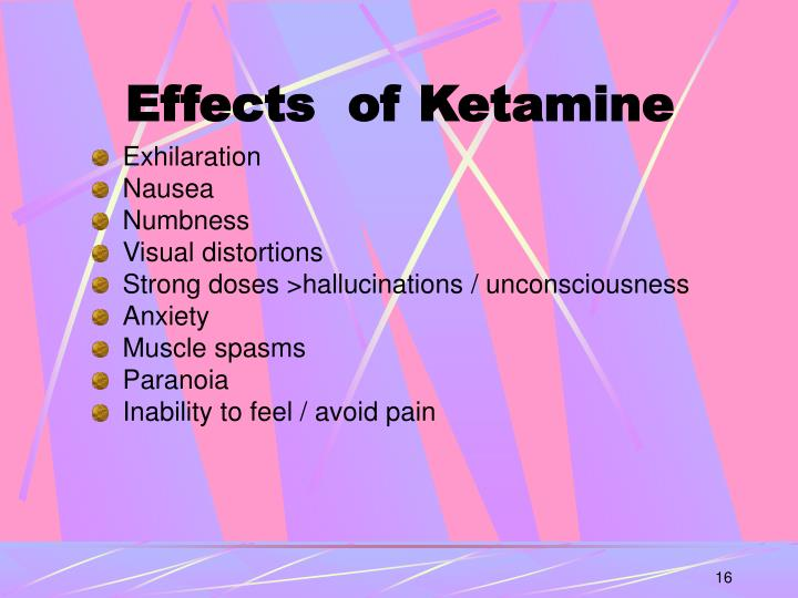 Effects  of Ketamine